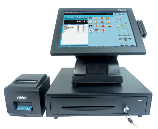 Restaurant Bundel POS System, Pos Touch Screen Terminal, Thermal Printer, Restarant Pos Software Included